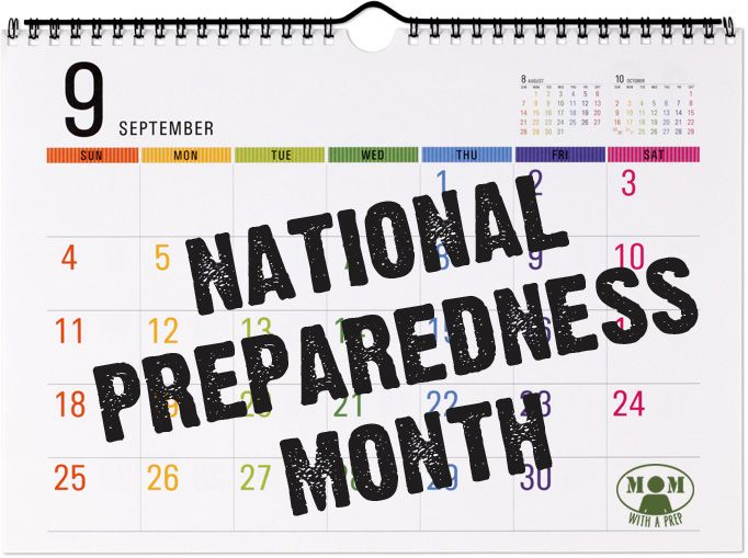 National Preparedness Month! Welcome September in with a month-long focus on Emergency Preparedness for you and your family @ Momwithaprep.com  #natlprep #PrepareAthon #30daysofprep