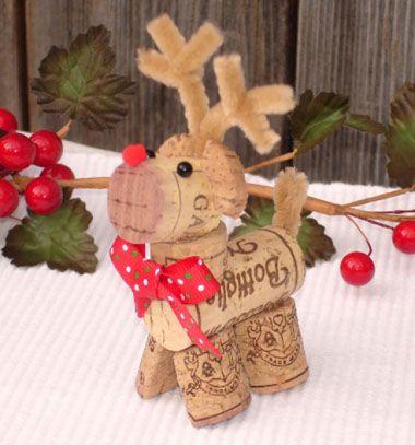 Wine cork reindeer ( Rudolph ) / Rudolf rénszarvas parafadugóból / Mindy - craft tutorial collection