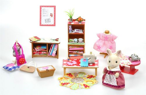 Sylvanian Families Decorated Sewing Room/ Shop Set Furniture & Accessories | eBay