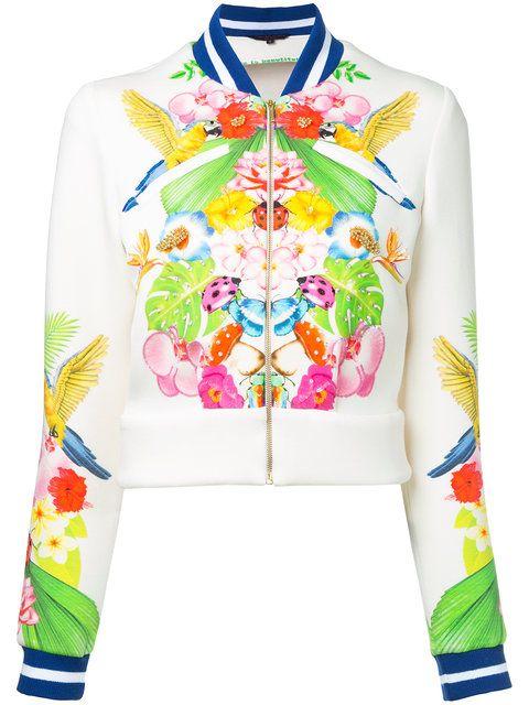 MANISH ARORA Tropical Print Bomber Jacket. #manisharora #cloth #jacket