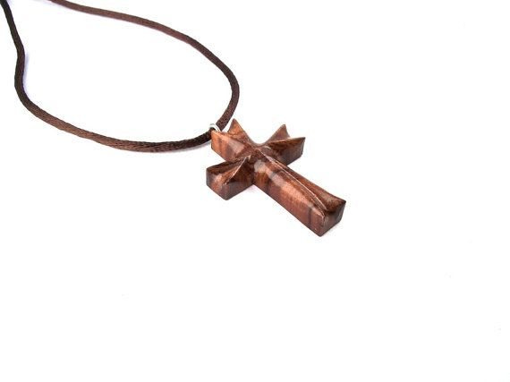 Wood Cross Necklace, Christian Jewelry, Wooden Cross ...