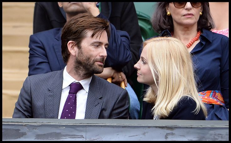 David Tennant and his wife Georgia Moffett at Wimbledon 2014