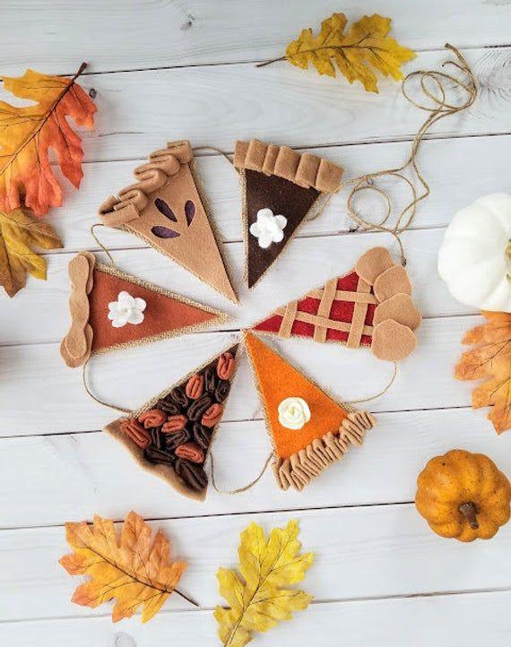 Happy Pie Season Bunting – Fall Garland – Thanksgiving Decor – Happy Pie Season – Felt Decor – Bunting