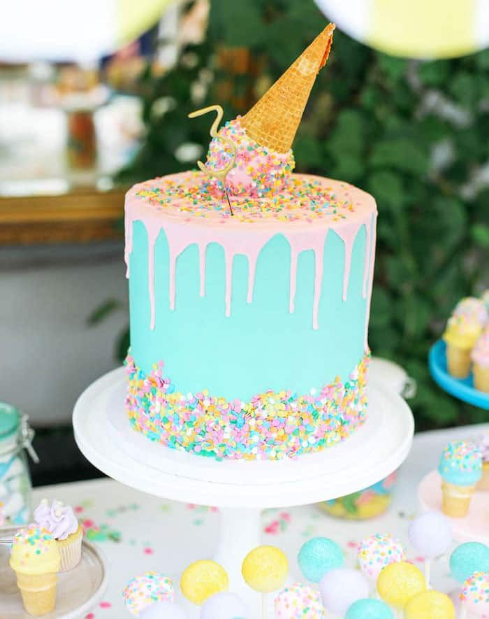 24 Fun Themed Kids Birthday Cake Ideas With Images Ice Cream