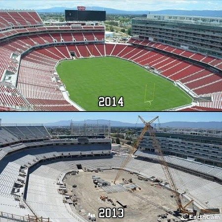 And finally… Time-lapse video released of the #SanFrancisco 49ers Levi's Stadium