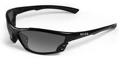 Maxx Sunglasses Cobra Black Frame Polarized Smoke HD Lens