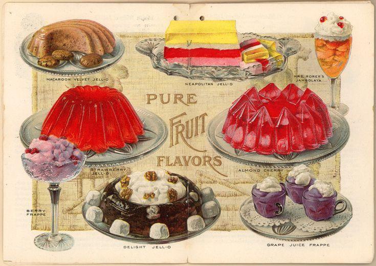 Jello recipes, 1910sJello Recipe, Jello Ads, Jello Desserts, Food, Candies Recipe, Christmas Candies, Jell O', Vintage Jello, Jello Moldings