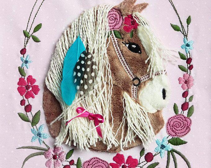 Applikationsvorlage Lulu Pony Pferde Applikation Etsy Doodles Pony