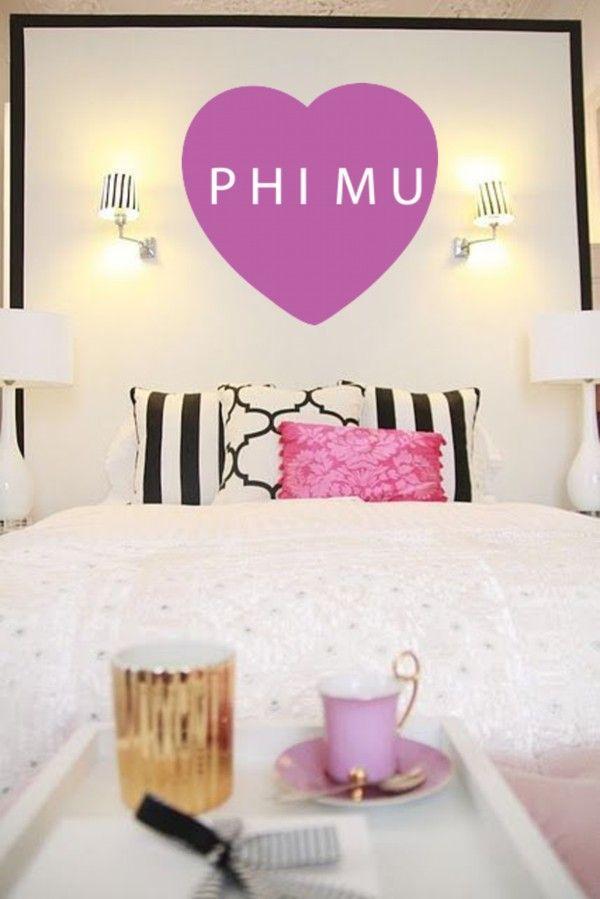 Phi Mu Heart Wall Graphic! #PhiMu