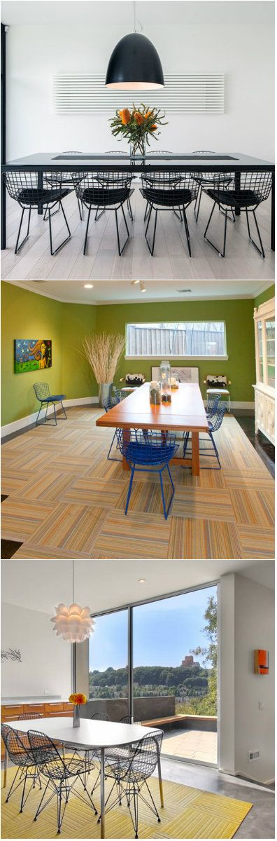 22 Dining Areas With Wire Dining Chairs Want a subtle industrial tone to your dining space? Try using wire dining chairs!     Dining chairs have different designs and whatever you choose, it will give your space a unique look. Chairs used in the dining area may be made of various materials and...