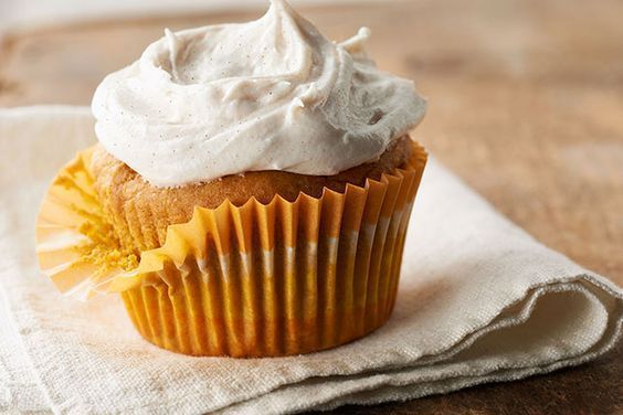Bake a batch of these Pumpkin Cupcakes with Cinnamon-Cream Cheese Frosting. Explore this Pumpkin Cupcakes with Cinnamon-Cream Cheese Frosting recipe today!