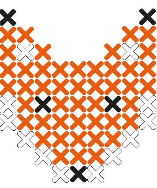 Fox cross stitch sticker pattern from Lidewijs.