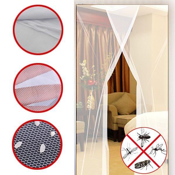 24x83 Inch 2pcs Diy Anti Mosquito Pest Window Curtain Net Mesh