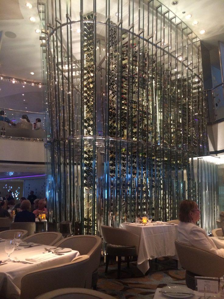 Celebrity Cruises - aboard Celebrity Eclipse - 3000 wine bottles in Moonlight Sonata main restaurant