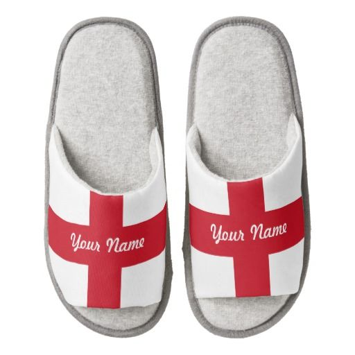 English flag slippers pair of open toe slippers