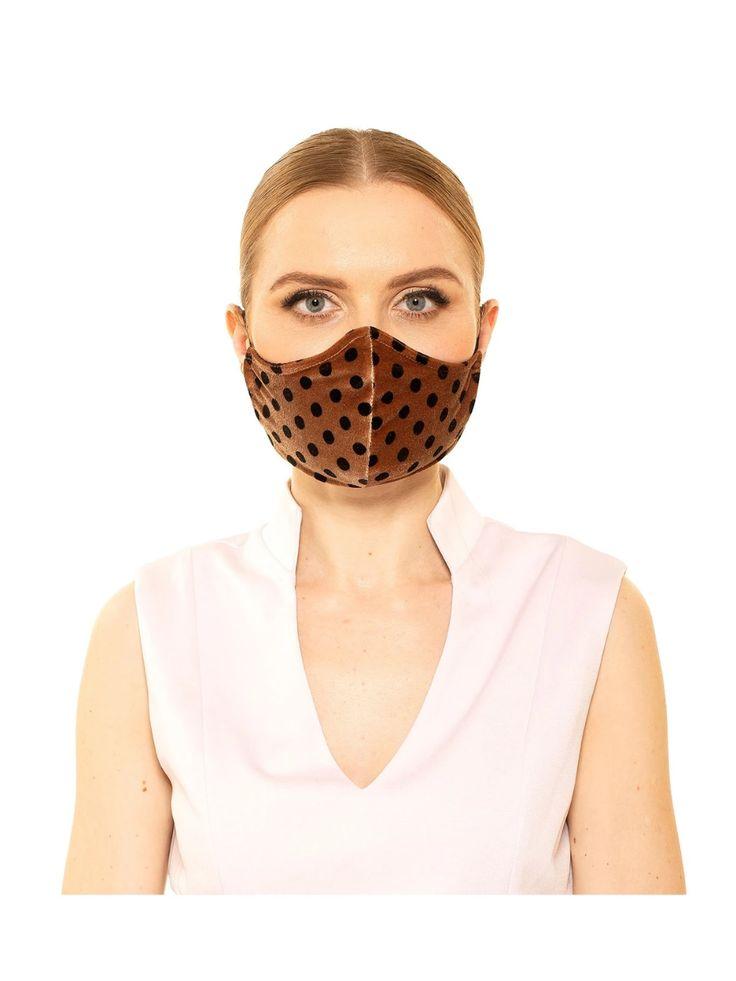 Polka Dot Velvet Scuba Fashion Mask – ALEXIA ADMOR