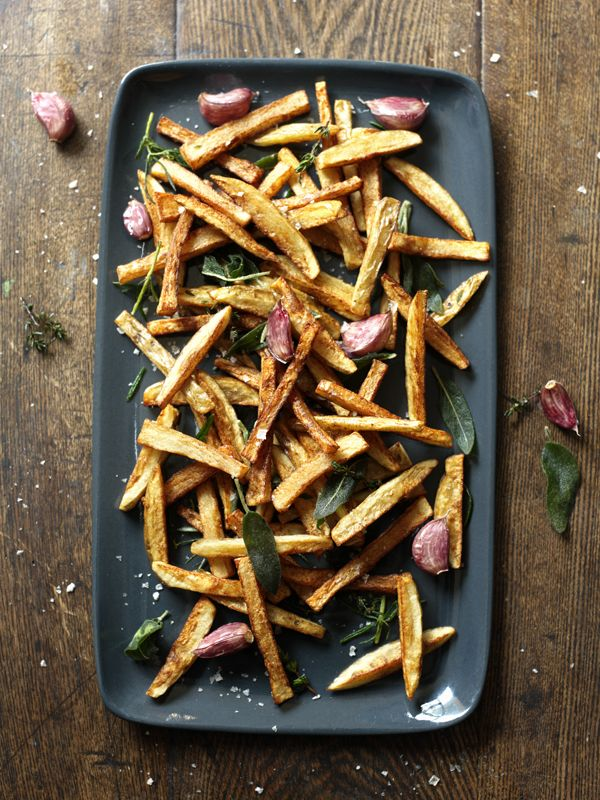 These miracle fries can be cooked from cold oil without any greasiness. Thanks, Nigella!
