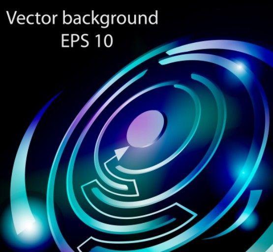 Hi tech abstract maze background vector 01
