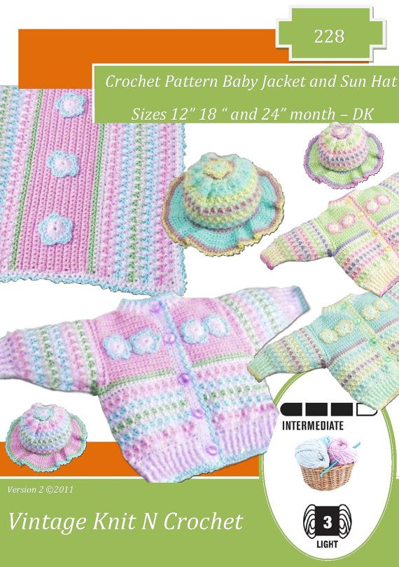 Instant Download 228 Toddler Cardigan and by VintageKnitNCrochet, £2.25