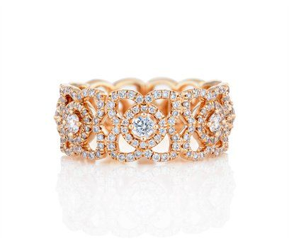 £5,200 Enchanted Lotus Band in Pink Gold