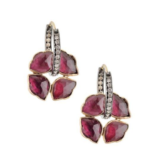 Oxidized Silver and Ruby earrings by Amrapali. Bridelan - Personal shopper & style consultants for Indian/NRI weddings, website www.bridelan.com #WeddingJewellery #BridalJewellery #PolkiJewellery #Rubies #DiamondJewellery #RoyalWeddingJewellery #NizamJewellery #Diamonds #Gold #Tourmaline #IndianJewellery #TraditionalJewellery #Bridelan #BridelanIndia