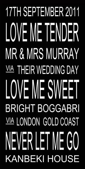 Great idea for a wedding present.