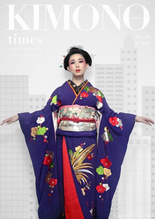 『 灰色の町に 君を捧ぐ 』 Dedication to grey town(?). AKiRa times + Shizuki (model) + Hanae Inoie (kushi/kanzashi) + Momoko Fujji (hair)