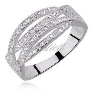 Srebrny pierścionek ze srebra próby 925 Cyrkonia biała