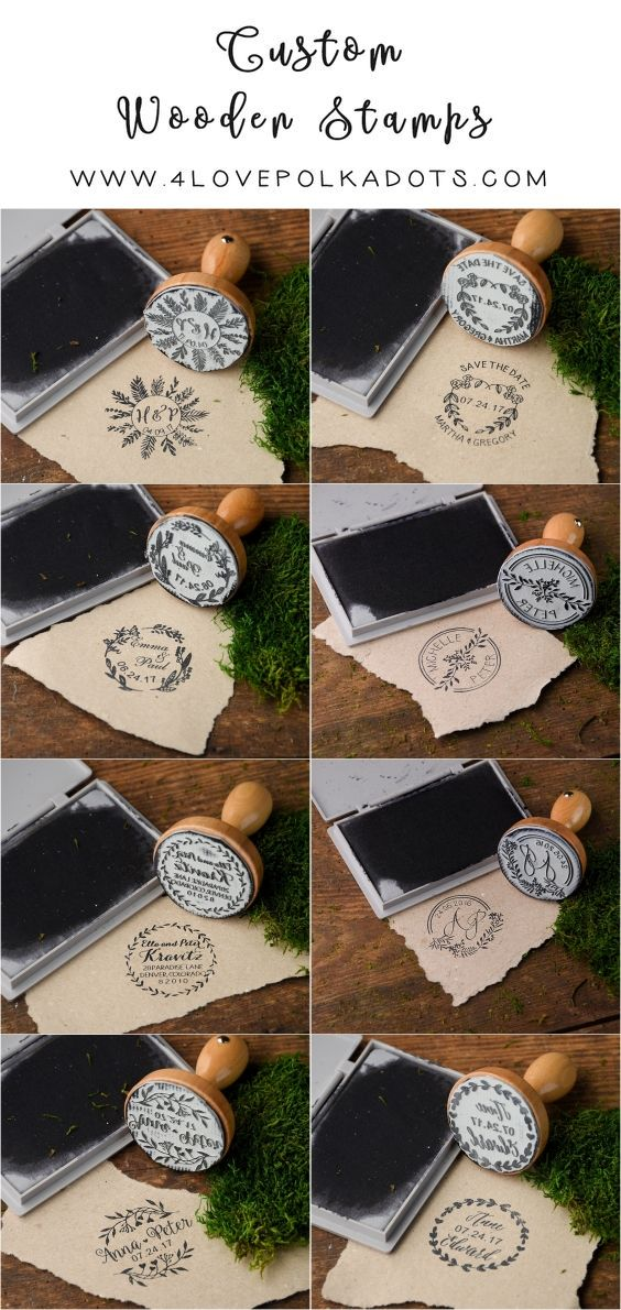 Rustic country wood wedding stamps #rusticwedding #countrywedding
