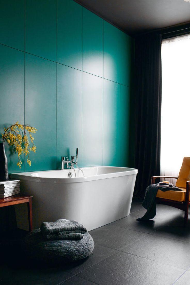 Цвет счастья: 33 бирюзовые ванные комнаты – Журнал – His.ua