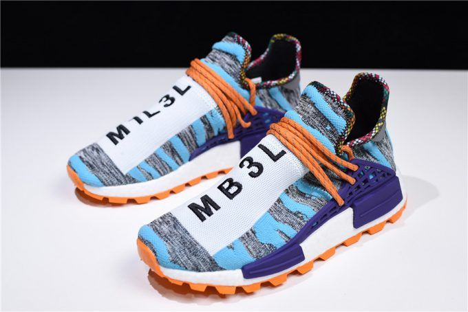 detailed look 0517e be110 2018 Pharrell x adidas Afro Hu NMD Hi-Res Aqua Core Black BB9528 Shoes-4