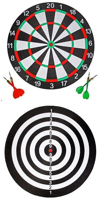 Dart Boards 72576 15 Inch Cricket 301 Bullseye Dart Board For