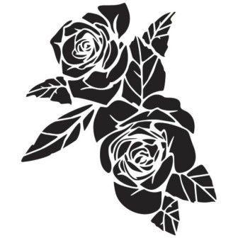 Трафарет Две розы 1
