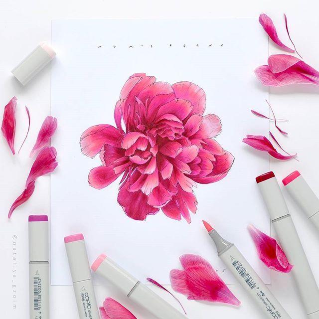 Все что осталось от цветов, одни лепестки. Даже жалко выбрасывать, такие интнресные линии у них если присмотреться И как всегда не хватает переходных цветов чтобы рисовать такие цветы. Приходится задействовать и RV06 и RV25 в одном переходе) Зато живописный цвет получается . #sketch #sketchbook #sketchaday #illustration #sketchmarker #copic #copicsketch #copicart #liner #colorpallet #colorpencils #prismacolor #art #drawing #sketcher #botanical #forest #mountains #colors #dalerrowney #ma...