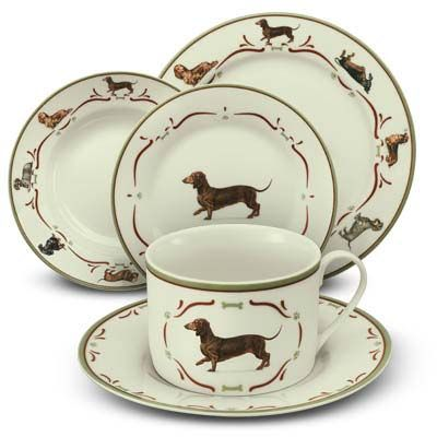 Dachshund Dinnerware - would love to surprise the family wtih these dishes!