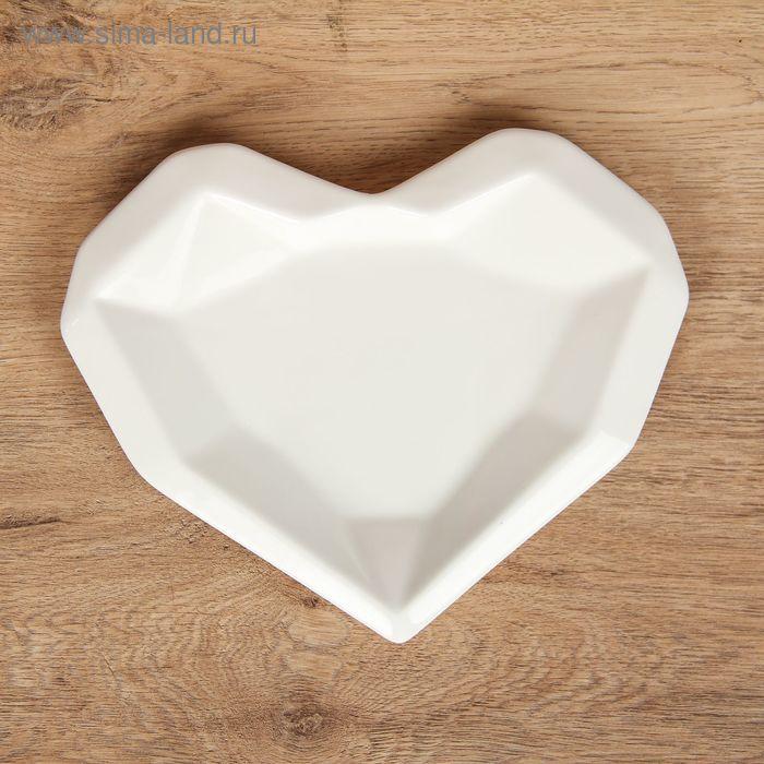 """Блюдо """"Ледяное сердце"""" 23,3х19,5х2 см"""