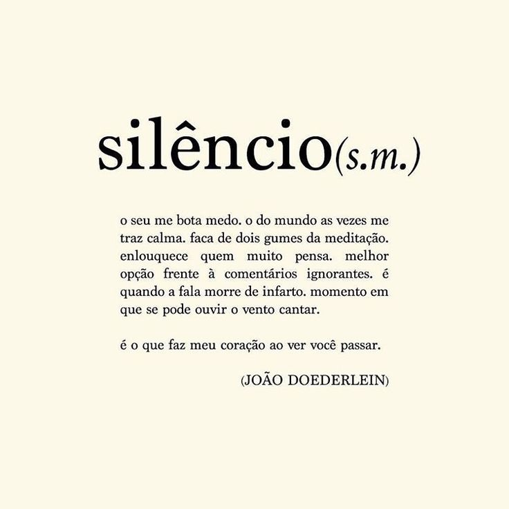 """""""... e quando a gente se sente acolhido pelo silêncio de alguém?"""" Palavra escolhida pela @lxfidalgo"""