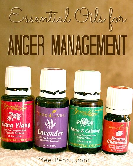 Using essential oils for anger management