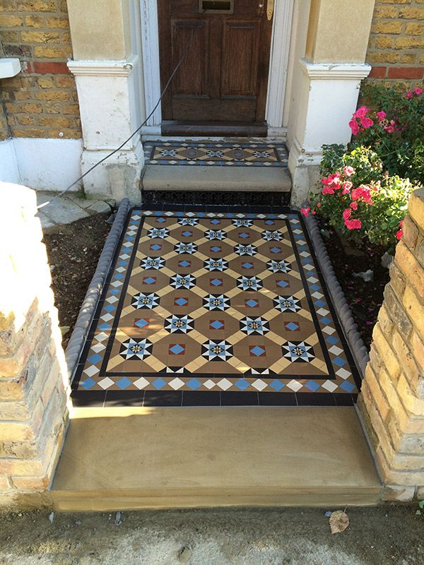 Image result for victorian tiled.front step