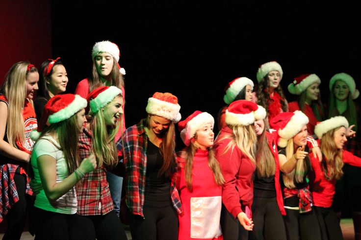The girls put on a show at the Grad Christmas Talent Show 2013