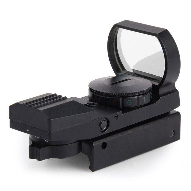 2016 Hunting scope Tactical Holographic Reflex Red Green Dot Sight Scope For Airsoft 20mm Rail