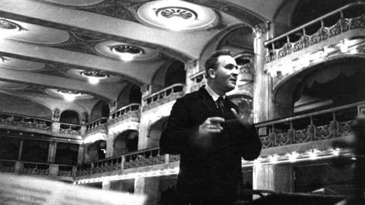 Bruno Walter (1876-1962) while working with the Czech Philharmonic in Prague in 1936
