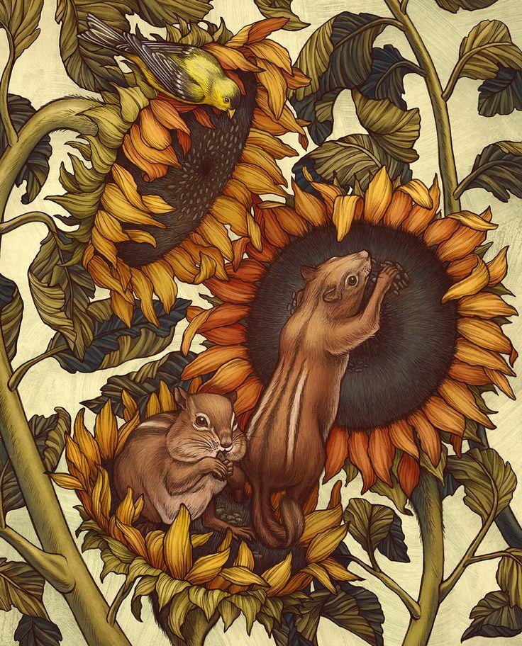 Illustrations for Greenprints Gardening Magazine's Autumn 2015 issue.
