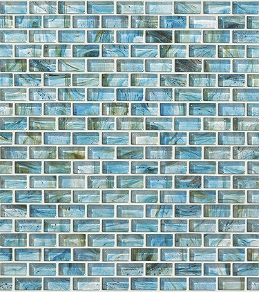 """""""seaglass"""" tiles for a backsplash in kitchen or bathroom maybe."""