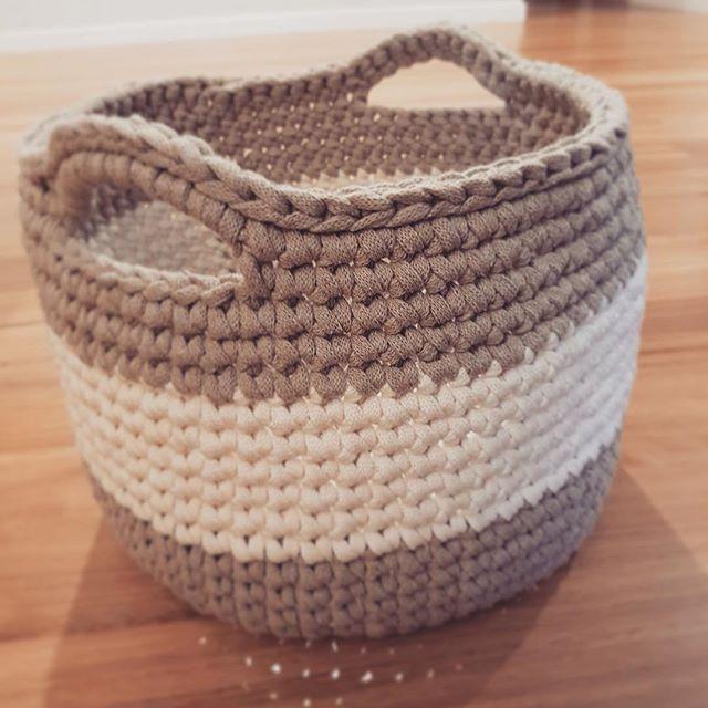 Big basket with handles. #nordico #homewares #homewaresmelbourne #madeinmelbourne #crochet #homedecor #crochetbasket #handmade #handcrafted #madebyme