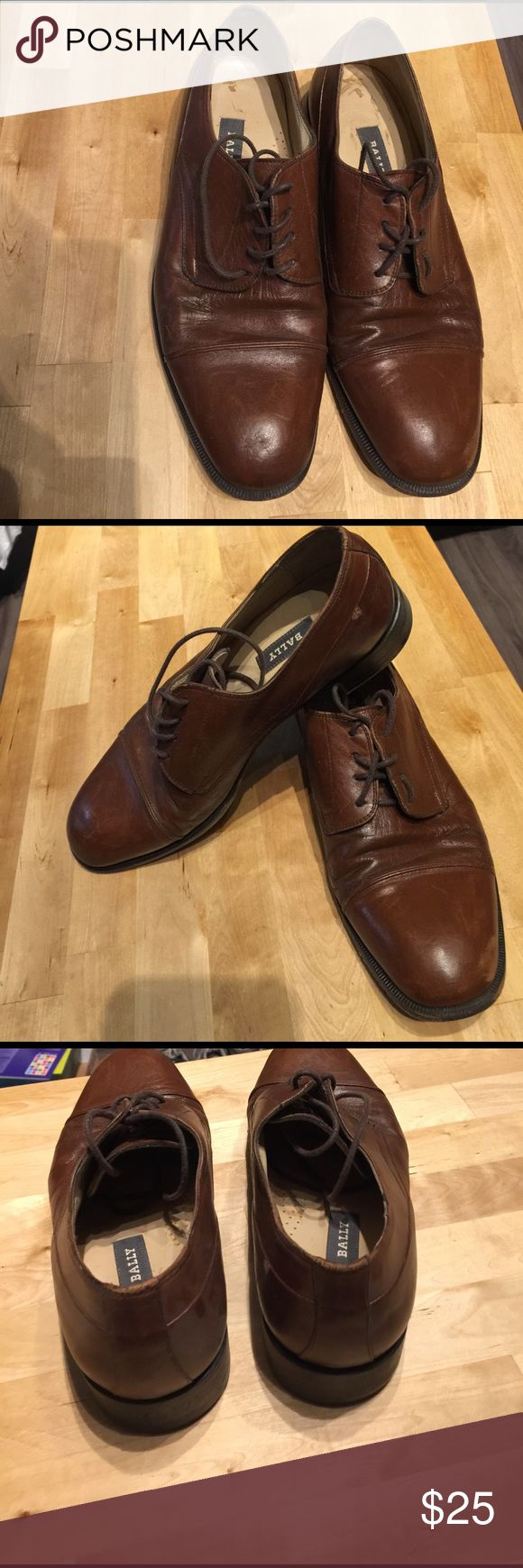 Bally size 9 men's dress shoes Made in Italy , well worn sz 9 , Bally Shoes