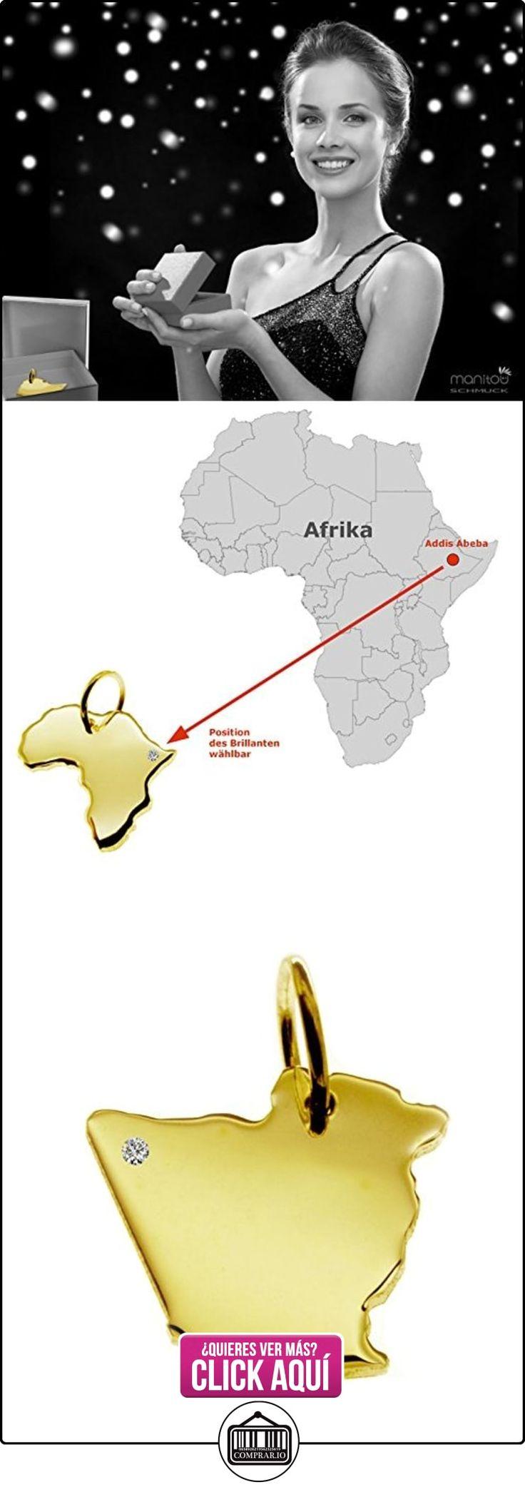 Exclusivo Argelia Mapa Colgante con brillante en su 0,015(Posición a elegir.)–maciza de oro amarillo 585, Deutsche artesanal–585er Oro de joyas  ✿ Joyas para hombres especiales - lujo ✿ ▬► Ver oferta: https://comprar.io/goto/B01N677ECP