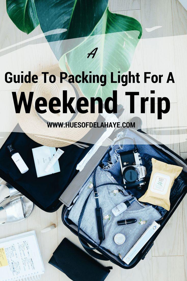 Guia de embalagem leve para uma viagem de fim de semana   – Outfits I love