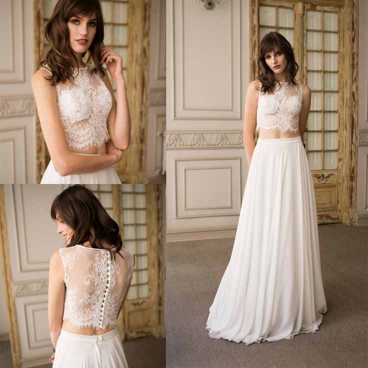 Vestido de novia 2 piezas · Two-Piece Wedding Dresses.