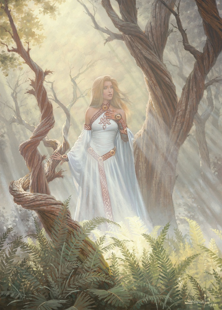 Celtic Goddess of the Forest, Artist: Jonathon Earl Bowser | Forest Mist - 1,000pc Puzzle by Holdson http://www.seriouspuzzles.com/i12323.asp